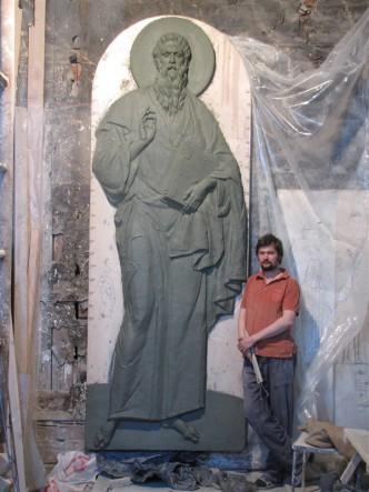Рельеф для храма Иоанна Богослова. 2012г.